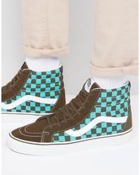 Vans 50th Anniversary Sk8 Hi Sneakers In Brown Va2xsblvl