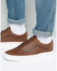 Vans Old Skool Sneakers In Brown Va31z9lyw