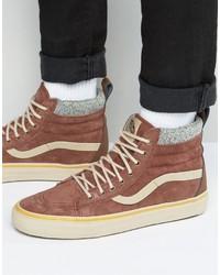 Vans Sk8 Hi Mte Dx Sneakers In Brown Va3498lqv