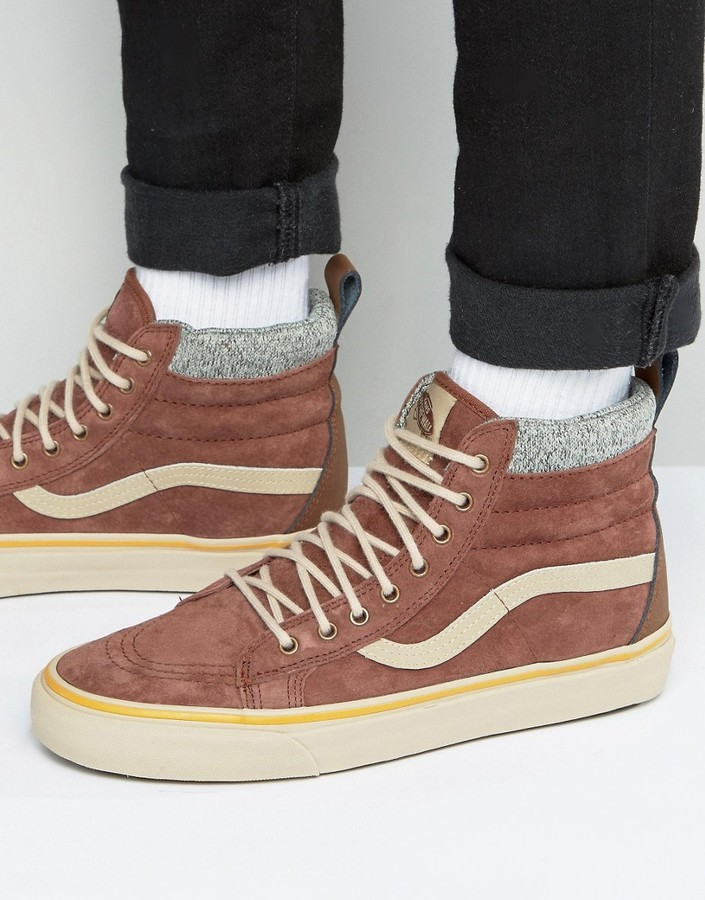3aa4c67f62 ... Vans Sk8 Hi Mte Dx Sneakers In Brown Va3498lqv ...