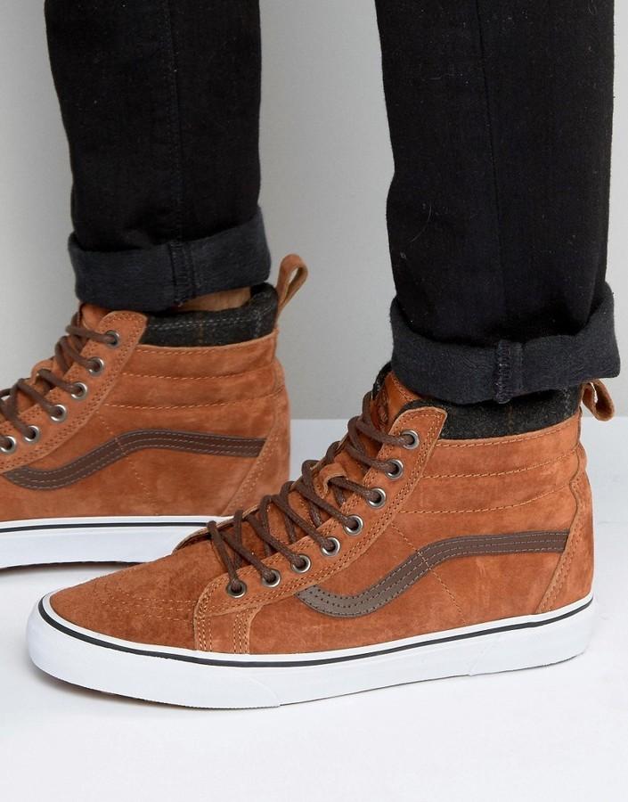 $85, Vans Sk8 Hi Mte Sneakers In Red V00xh4jue