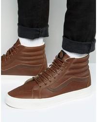 Vans Sk8 Hi Reissue Sneakers In Brown Va2xsblyw
