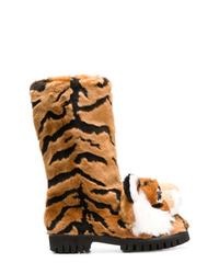 Dolce & Gabbana Tiger Surface Boots