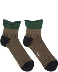 Kolor Brown Rib Socks