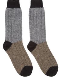 Haider Ackermann Grey Taupe Alpaca Socks