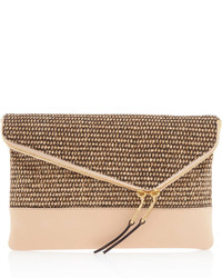 Brown Straw Clutch