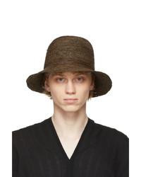 Jan Jan Van Essche Brown Straw Crochet 7 Hat