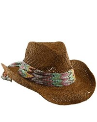 Dorfman Pacific Straw Cowboy Hat With Fashion Band Brown One Size