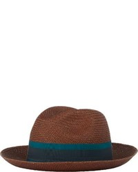 Lanvin Panama Hat Brown