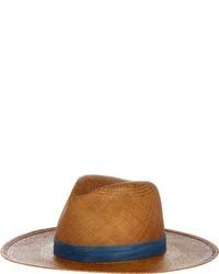 Janessa Leone Panton Panama Hat Brown