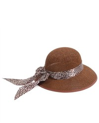 PDS Online Lady Brown Vintage Straw Sun Protection Hat Cap With Brim Wide