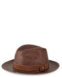 Hickey Freeman Straw Fedora Hat