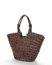 Sun n sand tuscan natural straw tote medium 121209