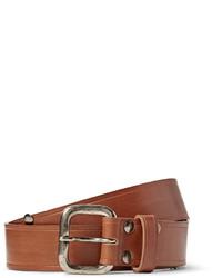 Maison Margiela 3cm Brown Studded Leather Belt