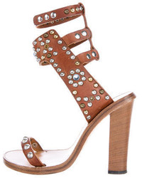 2ac2bcfb440 Women s Brown Leather Heeled Sandals by Isabel Marant