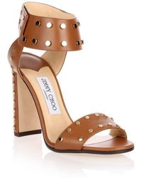 Jimmy Choo Veto Gold Studded Sandal