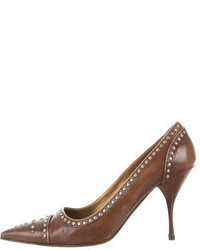 Pointed toe studded pumps medium 573027