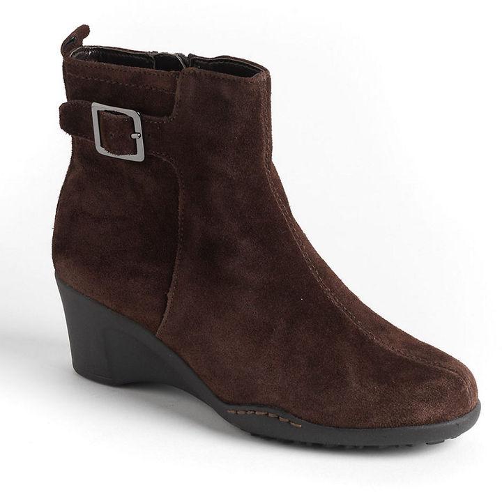 aerosoles rosoles entorage suede wedge ankle boots