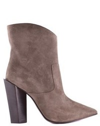 Fendi Brown Suede Ankle Boots