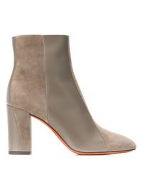 Santoni Contrasting Panel Ankle Boots