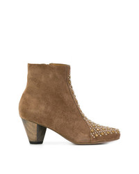 Calleen Cordero Stud Detail Heeled Ankle Boots