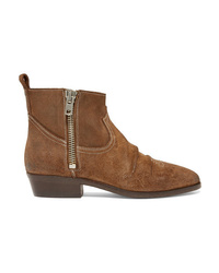 Golden Goose Deluxe Brand Viand Embroidered Suede Ankle Boots