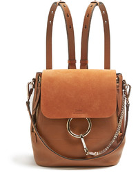 Chloé Chlo Faye Small Suede And Leather Backpack