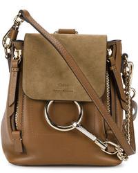 Chloé Mini Brown Leather Faye Backpack