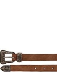 Saint laurent 20mm suede western belt medium 675802
