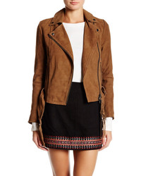 Muu Baa Muubaa Warren Genuine Suede Belted Biker Jacket