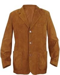 Moreschi Rust Suede Blazer Jacket