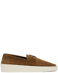 Fear Of God Brown Suede Boat Shoes