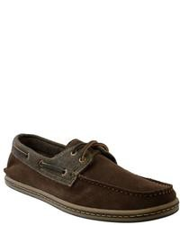 GBX Brown Suede Boat Shoes