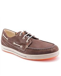 Ecco Androw Brown Moc Suede Boat Shoes Uk 115