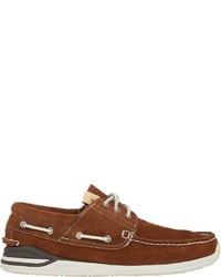 VISVIM Hockney Boat Shoes Brown