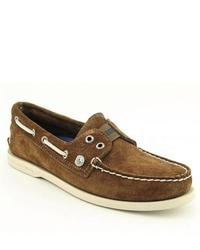 Sperry Top Sider Ao Brown Tan Boat Shoes