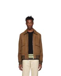 Acne Studios Brown Leather Lazlo Jacket
