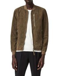 AllSaints Kemble Leather Bomber Jacket
