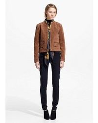 Mango zipped suede jacket medium 167405