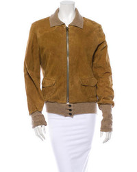 Suede bomber jacket medium 123140