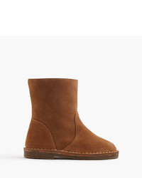J.Crew Suede Shearling Boots