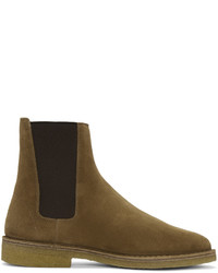 Saint Laurent Tan Suede Nevada Boots