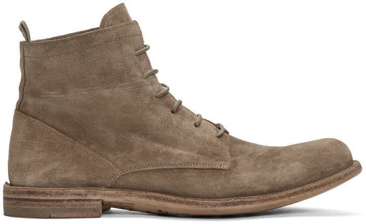 Officine Creative Tan Suede Ideal 19 Boots JsP4e4wD