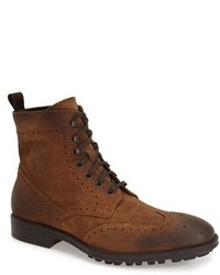 Brown Suede Brogue Boots