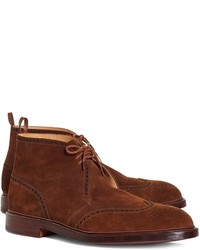 Brooks Brothers Preforated Wingtip Ankle Boots