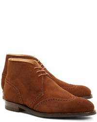 Brooks Brothers Peal Co Suede Wingtip Boots