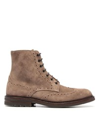 Brunello Cucinelli Perforated Ankle Boots