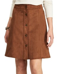 Chaps Faux Suede A Line Skirt
