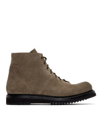 Rick Owens Brown Suede Boots