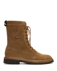 Rhude Brown Suede Ma 1 Boots